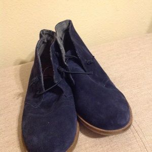 Lucky Brand Shoes - Lucky Leather Navy Blue Ankle Boots Bootie 10 NWOT